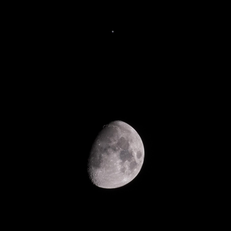 Moon meets Jupiter