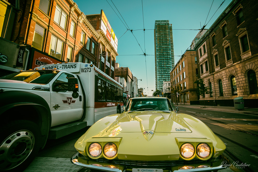 Yellow Corvette Stingray