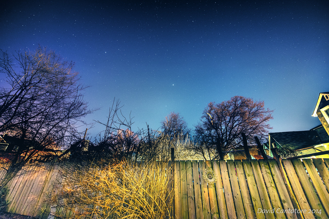 The bight star in the middle is Mars